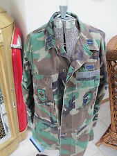 US Air Force Camouflage Combat Fatigue Uniform BDU's Shirt & Pants Large