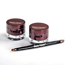 Make Up 4 in 1 Brown + Black Gel Eyeliner Brown + Black Eyebrow Powder. New.Pro