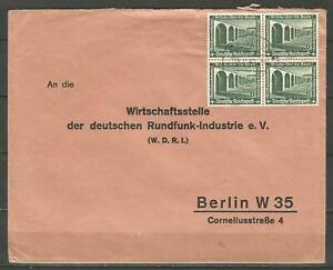 Germany 1937 - Mi-637 SG-626 on Letter Cover Dessau to Berlin Rundfunk Industrie