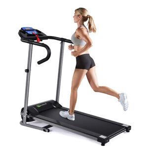 1100W Folding Electric Treadmill Support Motorized Power Running Machine