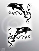 Dolphins stickers,Frosted or colour,Bathroom wall,Door glass,Shower screen,