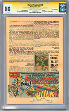 INCREDIBLE HULK #181 AD PAGE CGC-SS NG PRE-1ST FULL WOLVERINE TRIMPE & WEIN 1974