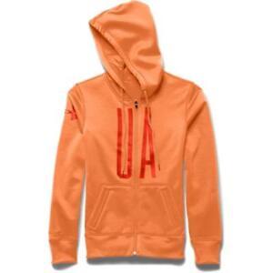 Under Armour Women's Storm Armour Fleece Full-Zip Graphic Hoodie - Orange