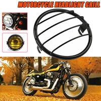 """7"""" Metal Motorrad Retro Scheinwerfer Grill Gitter Abdeckung Für Harley Yamaha"""