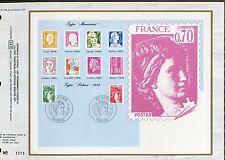 DOCUMENT CEF PREMIER JOUR  1980  TIMBRE   N° 2101 - 2102 SABINE