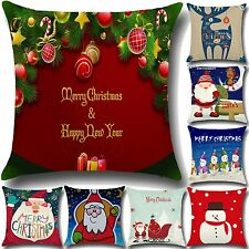 Christmas Decor Throw Pillow Case Cushion Covers Pillowcase Sofa Car Home 18x18""