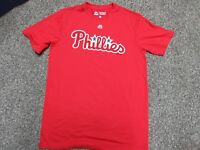 Majestic Phillies Adult Evolution Tee T-Shirt Size Medium Red