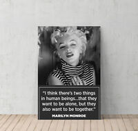 Marilyn Monroe Canvas Print Quote Decorative Modern Wall Art Decor Artwork