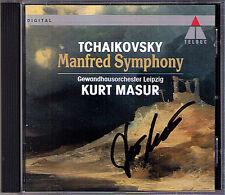 Kurt MASUR Signiert TCHAIKOVSKY Manfred Symphony CD Gewandhausorchester Leipzig