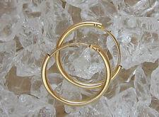 🎁 Creolen Ohrringe in aus 18kt 750 Gold Ohrcreolen hoop earrings Kreole Kreolen
