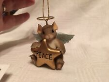 "Charming Tails ""Angel Of Good Tidings"" Fitz & Floyd Christmas Ornament"