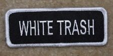 WHITE TRASH MOTORCYCLE PATCH