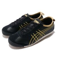 Asics Onitsuka TIger Mexico 66 Black Gold Mens Retro Running Shoes 1183A349-001