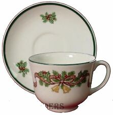 JOHNSON BROTHERS china VICTORIAN CHRISTMAS England CUP & SAUCER Set Cup 2-5/8""