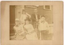 ID'd NEWTON MA Family Fletcher/Langdon Coffin Cousins Cooke RI 1889 Photo Tennis