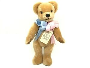 """Merrythought The Wedding Bear Jointed Teddy Bear Made in England 17"""" W Tag"""