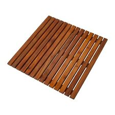 "Nordic Style Teak Oiled Bath/Shower/Outdoor/Spa Mat 19.6"" x 19.6"""