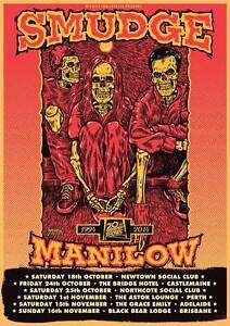 SMUDGE 2014 Australian Tour Poster A2 Manilow 20th Anniversary LEMONHEADS ***NEW