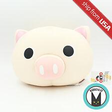 Tokyo Japanese Lifestyle Pink Pig Big Head Beads Cushion Plush Kawaii Cute fun