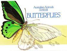 1983 Australian Butterflies Definitive' s Set Of 9 Stamp Pack, Mint, Unopened