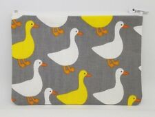 Grey Goose Fabric Handmade Zippy Coin / Card Money Purse Storage Pouch