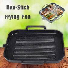 Non Stick Coating Aluminum Frying Grill Pan BBQ Plate Cookware Induction