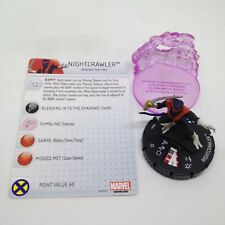 Heroclix Uncanny X-Men set Nightcrawler #044 Rare figure w/card!