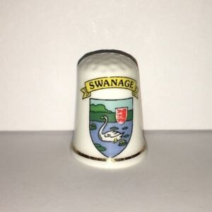 Collectable SWANAGE SHIELD OF ARMS  Thimble (AA36)