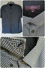 Tailor & Cutter Mens Short Sleeved Shirt Size XL 114c Slim Fit. 100% Cotton Blue