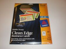 Avery Ink Jet 8876 Matte Ivory Clean Edge Business Cards 200 Brand New