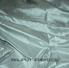 100% Natural Silk Dupioni Fabric Blue Dull Blue Warm Luxurious BY THE YARD