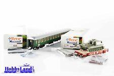 Roco Minitanks 829 y 47198 H0 Lote de vagones militares pasajeros de la Royal