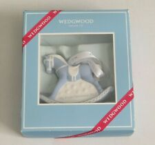 Wedgwood 2017 My First Christmas Blue Rocking Horse Ornament 40024137