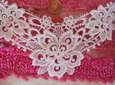 White Venice Venise floral bridal v-neck applique