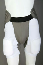 Boys Schutt Football Girdle Padded Compression Shorts ~ White ~ Youth Large