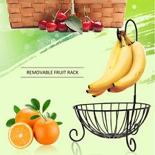 Novelty Kitchen Metal Fruit Basket with Detachable Banana Hanger Holder Hook US