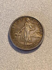 PHILIPPINES 1905S 50 Centavos Silver