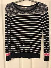Brand New Ladies Ex Oasis Pink Stripe Soft Feel Jumper Knitwear