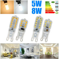 5/10x G9 5W 8W 2835SMD LED Dimmable Capsule Bulb Replace Halogen Light Lamp 220V