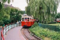 PHOTO  2002 BELGIUM  HAN-SUR-LESSE  TRAM NO AR 159 WITH TRAILERS