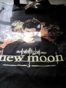 Jacob Black Twilight Saga NewMoon Fabric Printed Carry Treat Tote Bag Were Wolf