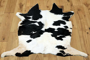 """New Calfhide Rugs Area Cow Skin Leather Cowhide ULG 45803 (33""""X33"""")"""