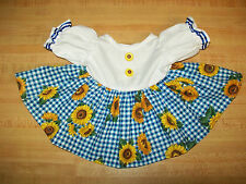 """15-17"""" CPK Cabbage Patch Kids SUNFLOWER DRESS W/ BUTTONS + RIBBONS"""