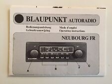Blaupunkt Radio Neubourg FR Operating Manual User Manual