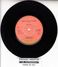 "THE RASPBERRIES Overnight Sensation 7"" 45 rpm record NEW + juke box title strip"
