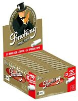 1 Box Smoking GOLD King Size Papers 24 x 33 Blättchen mit 24 x 33 Filtertips