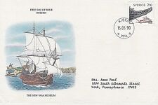 SWEDEN 1990 FIRST DAY COVER - WASA NAUTICAL MUSEUM - MAN-OF-WAR WASA - SHIP