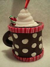 "Kurt S Adler ""CLAYDOUGH HOT COCOA CUP"" Ornament ~ BROWN"""