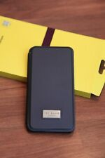 TED BAKER IPHONE XS MAX CASE WITH CARD SLOT FOLIO NAVY BNIB