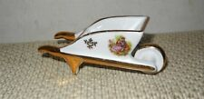 Vintage Fm Limoges France Fragonard Porcelain Miniature Mini Wheelbarrow